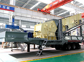 Wheel mobile vertical shaft impact crusher