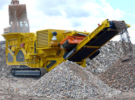 Crawler type mobile impact crusher