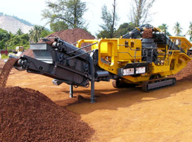 Crawler type mobile cone crusher