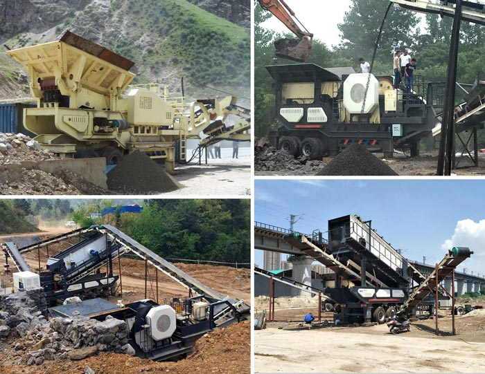 wheel mobile jaw crusher
