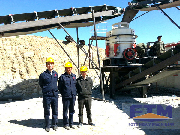 The advantage display of multi-cylinder hydraulic cone crusher in processing dolomite